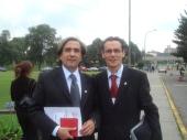Junto a Enrique Aguayo de Chile