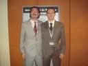 El prof. Joaquin Dosil junto a Marcelo Roffé